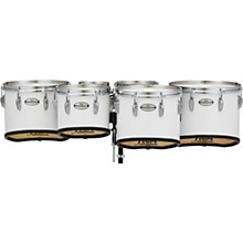 Championship Maple Marching Tenor Drums Sextet Sonic Cut 6, 8, 10, 12, 13, 14 in. Pure White #33