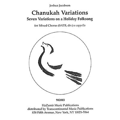 Transcontinental Music Chanukah Variations SATB a cappella composed by Joshua Jacobson