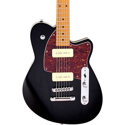 Reverend Charger 290 Roasted Maple Fingerboard Electric Guitar Midnight Black