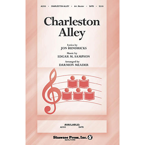 Shawnee Press Charleston Alley SATB composed by Jon Hendricks