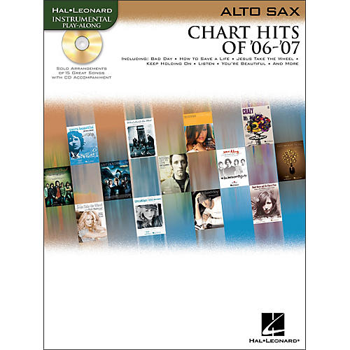 Hal Leonard Chart Hits Of '06-'07 for Alto Sax Book/CD