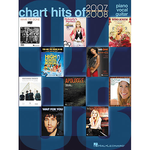 Hal Leonard Chart Hits of 2007-2008 Piano, Vocal, Guitar Songbook