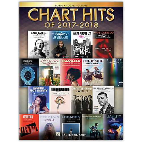 Hal Leonard Chart Hits of 2017-2018 - Piano/Vocal/Guitar Songbook