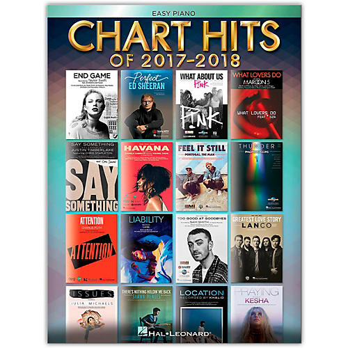 Hal Leonard Chart Hits of 2017-2018 for Easy Piano