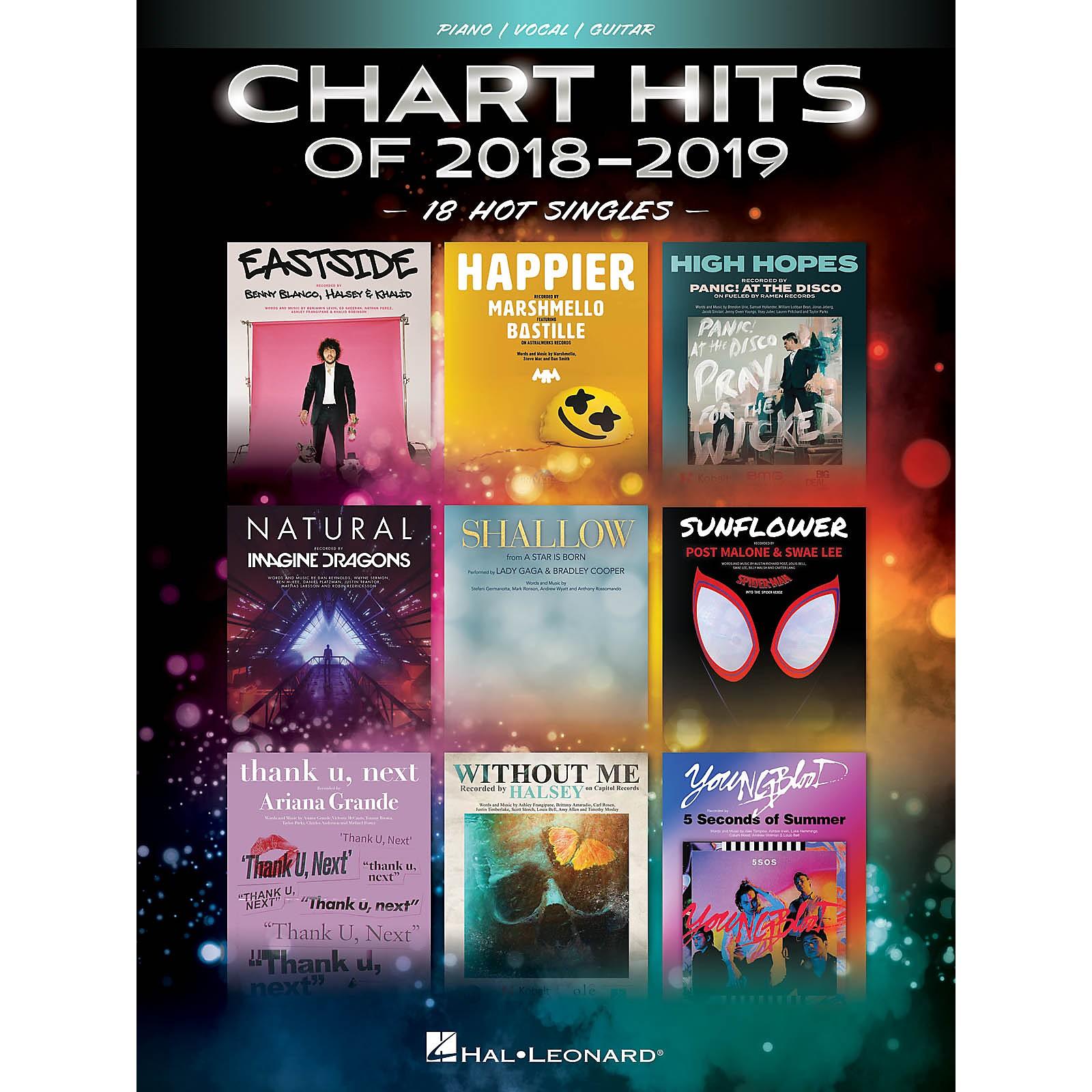 Hal Leonard Chart Hits of 2018-2019 (18 Hot Singles) Piano/Vocal/Guitar Songbook