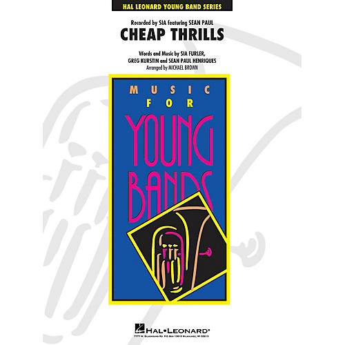 Hal Leonard Cheap Thrills - Young Concert Band Level 3 by Michael Brown
