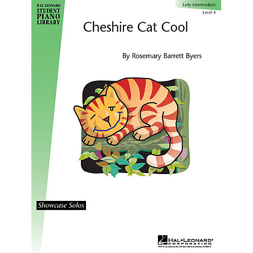 Hal Leonard Cheshire Cat Cool Piano Library Series by Rosemary Barrett Byers (Level Early Inter)