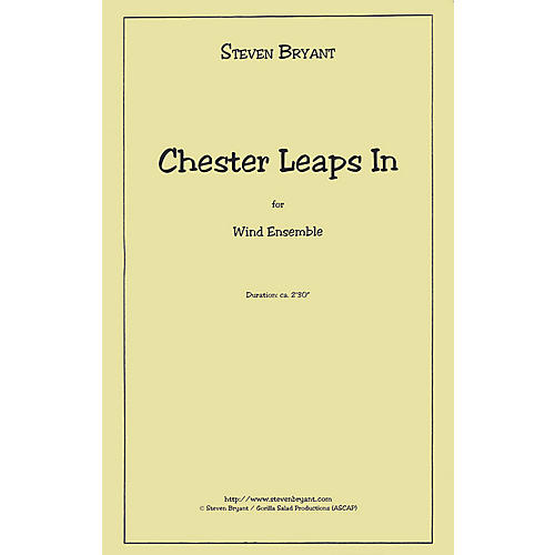 Hal Leonard Chester Leaps In (Eric Whitacre Concert Band Series) Concert Band Level 5 Composed by Steven Bryant