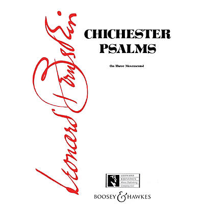 Boosey and Hawkes Chichester Psalms (Score) Score Composed by Leonard Bernstein