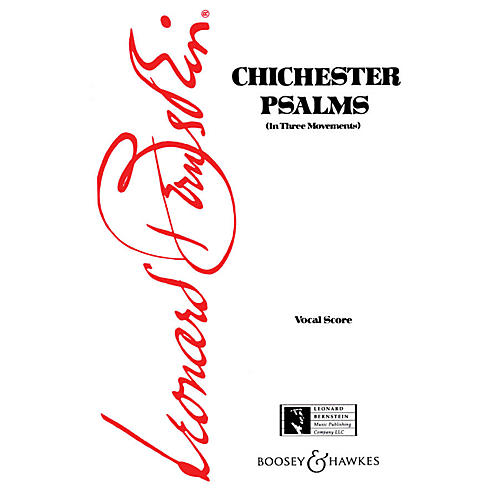 Boosey and Hawkes Chichester Psalms Vocal Score composed by Leonard Bernstein