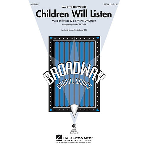 Hal Leonard Children Will Listen (from Into the Woods) SAB Arranged by Mark Brymer