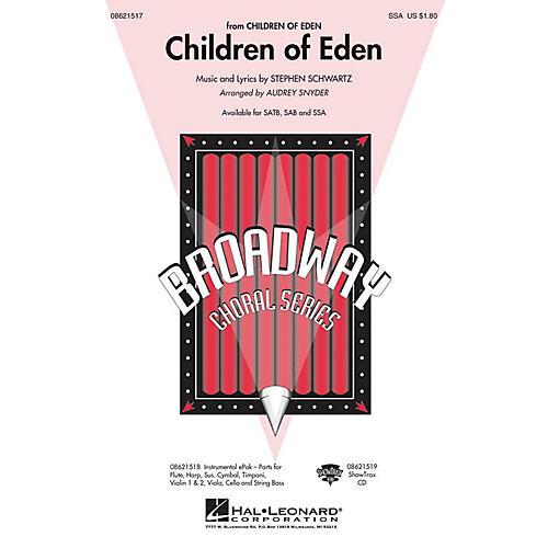 Hal Leonard Children of Eden SSA arranged by Audrey Snyder