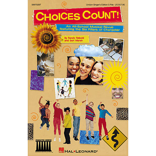 Hal Leonard Choices Count (All-School Revue) (Unison Singer 5-Pak) UNIS.SGR5PAK Composed by Don Marsh