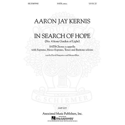 Associated Choral Movements from Garden of Light (No. 4 - In Search of Hope) composed by Aaron Jay Kernis