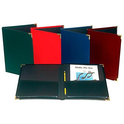 "Marlo Plastics Choral Rehearsal Folder 9"" X 12"" with Gusset Pockets"