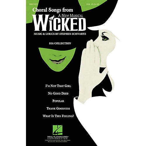 Hal Leonard Choral Songs from Wicked (SSA Collection) SSA arranged by Roger Emerson