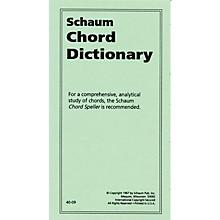 SCHAUM Chord Dictionary Educational Piano Series Softcover