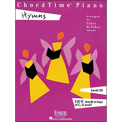 Faber Piano Adventures Chordtime Piano Hymns Book Level 2B Chords In Keys C, G, And F - Faber Piano
