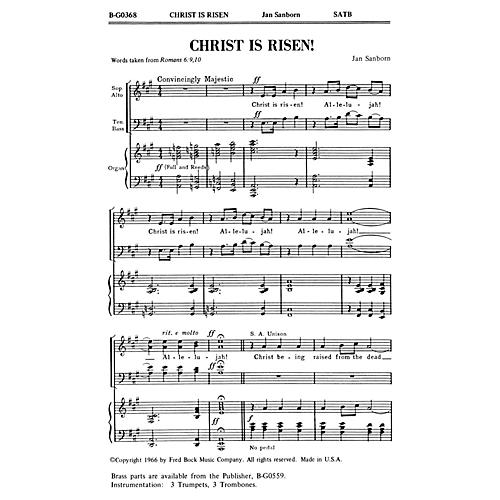 Fred Bock Music Christ Is Risen! SATB composed by Jan Sanborn