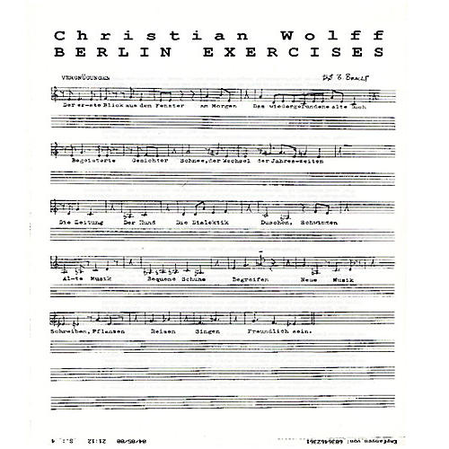 Alliance Christian Wolff - Berlin Exercises