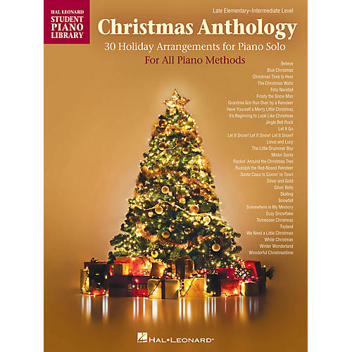 Hal Leonard Christmas Anthology Piano Library Series Book by Various (Level Late Elem to Early Inter)