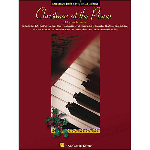 Hal Leonard Christmas At The Piano - 11 Holiday Favorites for Piano Duet 1 Piano, 4 Hands