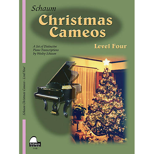 SCHAUM Christmas Cameos (Level 4 Inter Level) Educational Piano Book