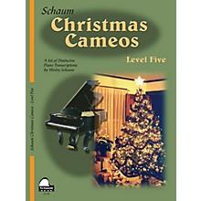 SCHAUM Christmas Cameos (Level 5 Upper Inter Level) Educational Piano Book