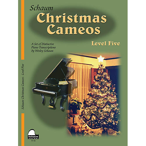 SCHAUM Christmas Cameos (Level 5 Upper Inter Level) Educational Piano Book