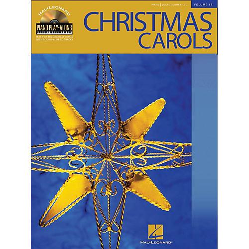 Hal Leonard Christmas Carols Volume 48 Book/CD Piano Play-Along arranged for piano, vocal, and guitar (P/V/G)