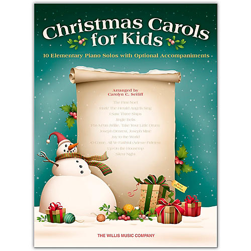Hal Leonard Christmas Carols for Kids - 10 Elementary Piano Solos with Opt. Accomp Early to Mid-Elem Level