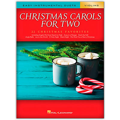 Hal Leonard Christmas Carols for Two Violins (Easy Instrumental Duets) Songbook