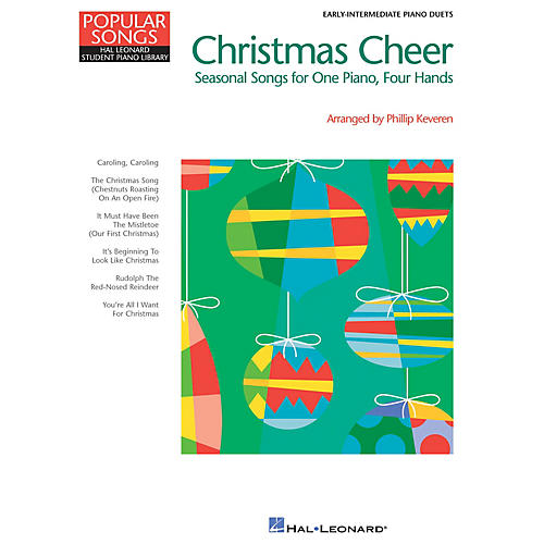 Hal Leonard Christmas Cheer (Popular Songs Series 1 Piano, 4 Hands) Piano Library Series Book (Level Early Inter)