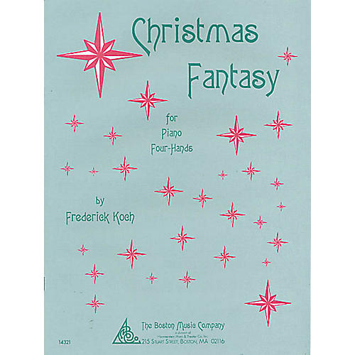 Music Sales Christmas Fantasy (for One Piano, Four Hands) Music Sales America Series