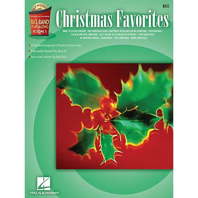 Hal Leonard Christmas Favorites - Bass (Big Band Play-Along Volume 5) Big Band Play-Along Series Softcover with CD