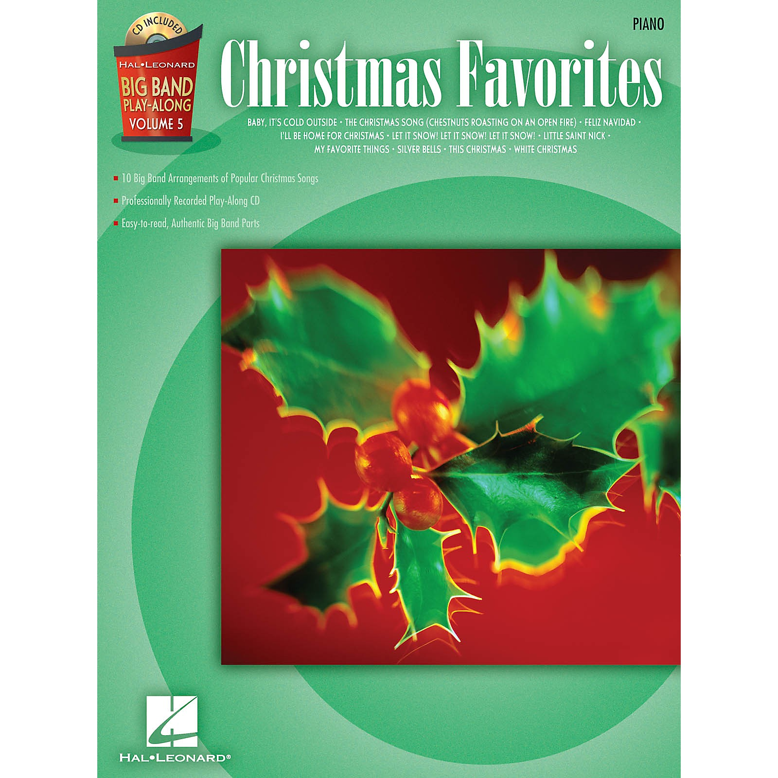 Hal Leonard Christmas Favorites - Piano (Big Band Play-Along Volume 5) Big Band Play-Along Series Softcover with CD