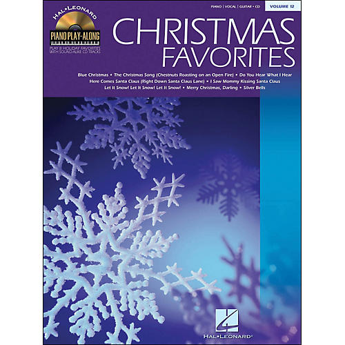 Hal Leonard Christmas Favorites Book/CD Volume 12 Piano Play-Along arranged for piano, vocal, and guitar (P/V/G)