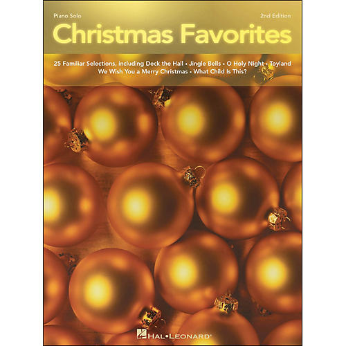 Hal Leonard Christmas Favorites Intermediate 2nd Edition Piano Solos