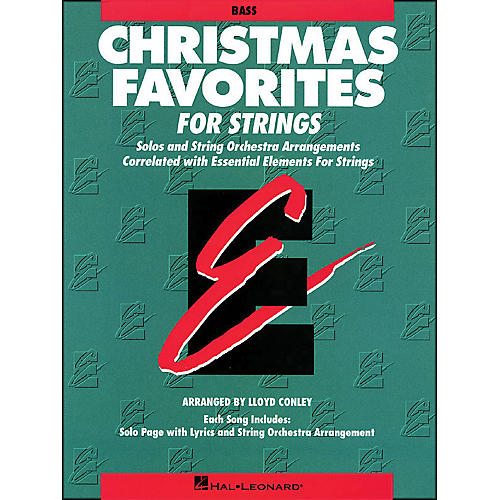 Hal Leonard Christmas Favorites String Bass Essential Elements