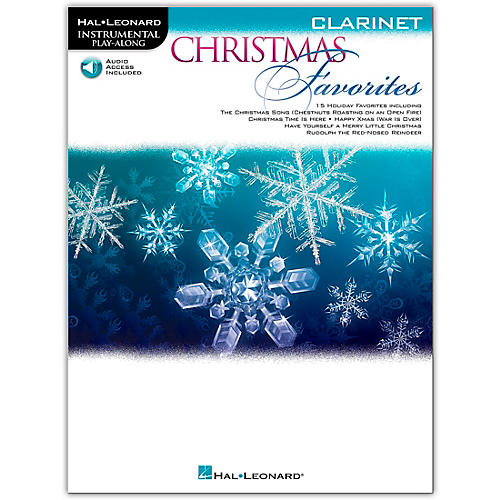 Hal Leonard Christmas Favorites for Clarinet - Instrumental Play Along Book/Audio Online