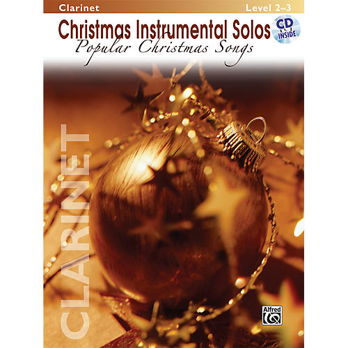 Alfred Christmas Instrumental Solos Popular Christmas Songs Clarinet Book & CD