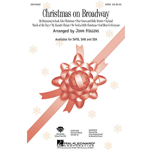 Hal Leonard Christmas On Broadway (Medley) ShowTrax CD Arranged by John Higgins