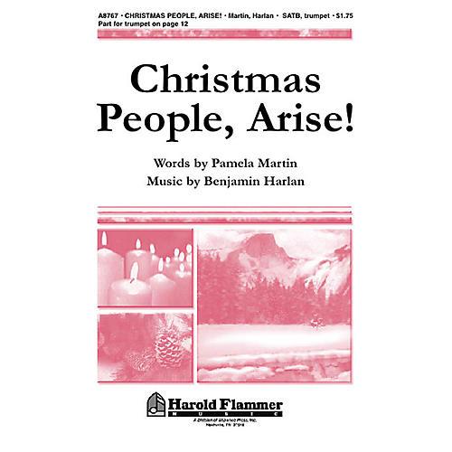 Shawnee Press Christmas People, Arise! SATB composed by Benjamin Harlan