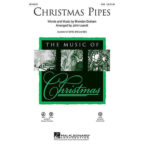 Hal Leonard Christmas Pipes SAB arranged by John Leavitt