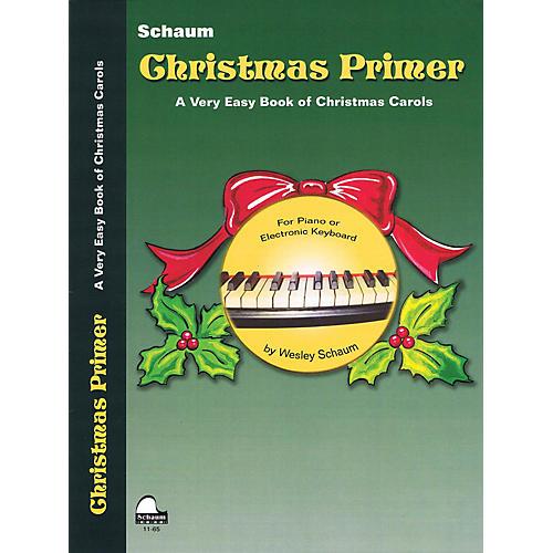 SCHAUM Christmas Primer (Primer Level Early Elem Level) Educational Piano Book