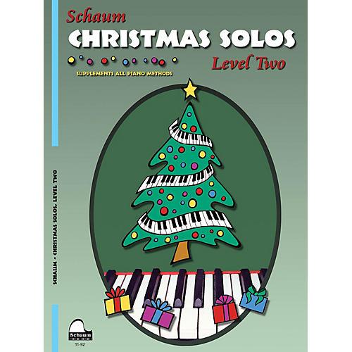 SCHAUM Christmas Solos (Level 2 Upper Elem Level) Educational Piano Book