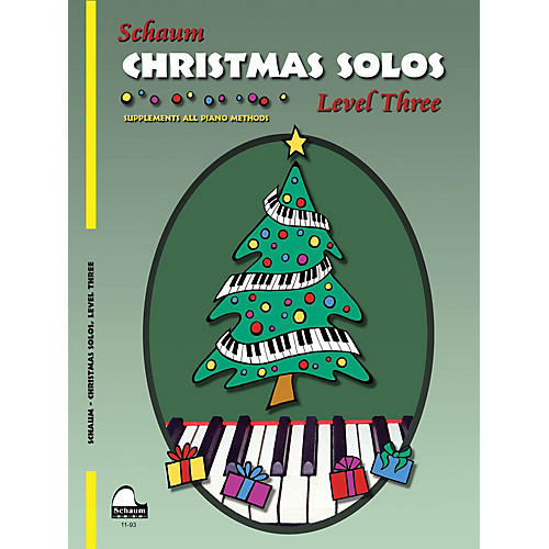 SCHAUM Christmas Solos (Level 3 Early Inter Level) Educational Piano Book