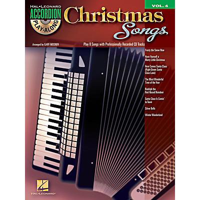 Hal Leonard Christmas Songs - Accordion Play-Along Volume 4 Book/CD