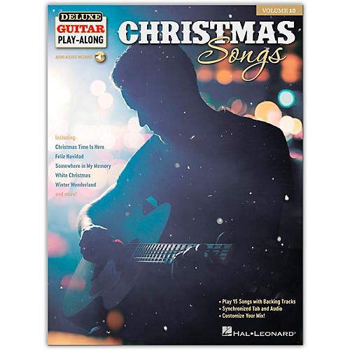 Hal Leonard Christmas Songs - Deluxe Guitar Play-Along Series Volume 10 Book/Audio Online
