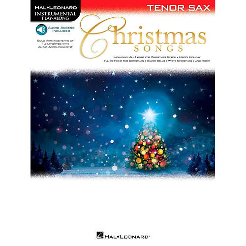 Hal Leonard Christmas Songs For Tenor Sax - Instrumental Play-Along (Book/Audio On-Line)